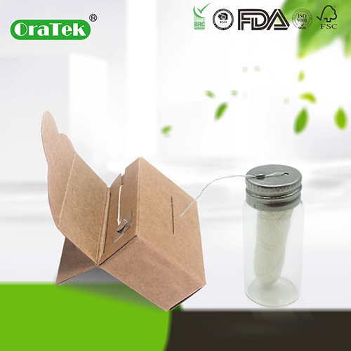 30M Corn Starch Pla Biodegradable Eco-Friendly Dental Floss In Kraft Box
