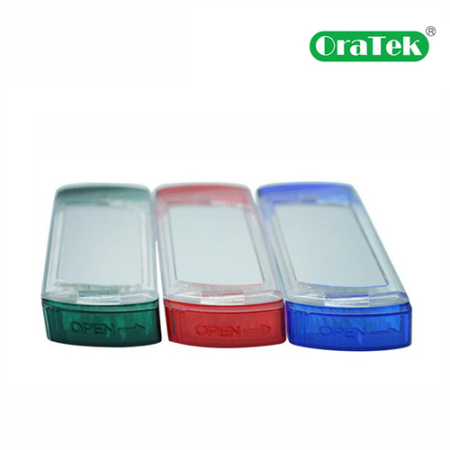 Plastic Toothpick 50Pcs Handy Box With Mirror